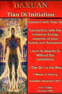 Tian Di Initiation - Repair habits and ancestral lines to connect with the Universal Energy.